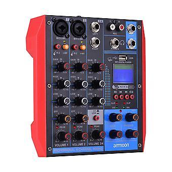 Tragbarer 4-Kanal-Mischpult digitaler Audiomixer