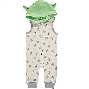 Star Wars Το Μανταμοριανό Παιδί Αμάνικο Romper με κουκούλα