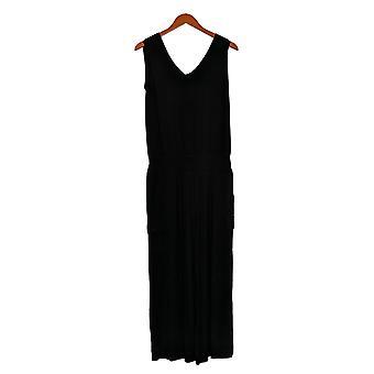 Lisa Rinna Collection Jumpsuits Mouwloze Elastische Taille Zwart A308774