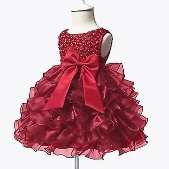 Tutu Beading Flower Baby Dress For Wedding Party