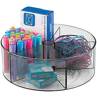 HanFei Lazy Susan Ordnungssystem fr den Schreibtisch & praktischer Schreibtischorganizer mit