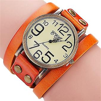 Cow Leather Bracelet Watch, Bamboo Women's Watches