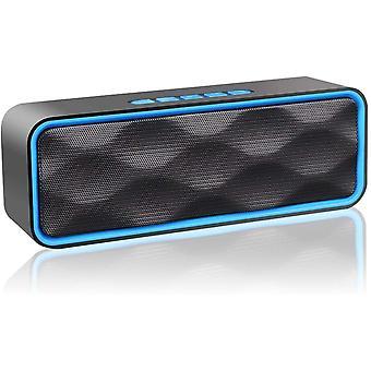 Prenosný Bluetooth reproduktor, bezdrôtový reproduktor, Subwoofer Bluetooth 4.2, HD stereo zvuk, handsfree telefón, FM rádio, podpora TF karty, pre iPhone, iPad, Samsung atď(Modrá)