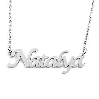 KL Kigu Natalya, vrouwen ketting met gepersonaliseerde naam, modieuze sieraden, cadeau voor vriendin, moeder, zus