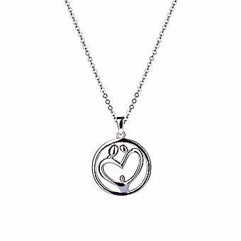 Eudora - Pendentif Family Circle Icons - Prolongateur 40cm +3cm - Argent - Cadeaux bijoux pour femmes de Lu Bella