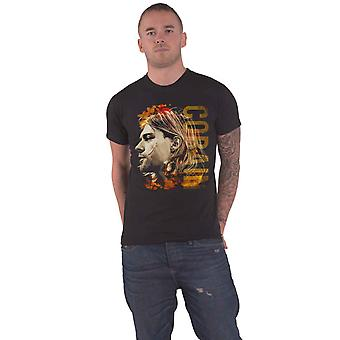 Kurt Cobain T Shirt Coloured Side View Nirvana new Official Mens Black