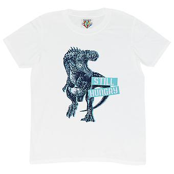 Popgear Gutter Fortsatt Sulten Velociraptor T-skjorte
