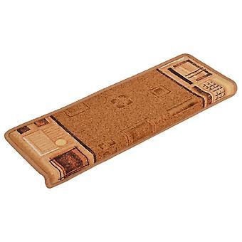tappetini per scale vidaXL Autoadesivo 15 pezzi. 65x25 cm Beige