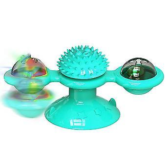 ألعاب طاحونة زرقاء للقطط لغز دوامة القرص الدوار تدريب هريرة التفاعلية az21249