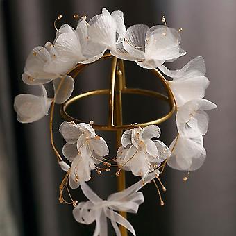 Estilo exterior Bela faixa de flores de seda