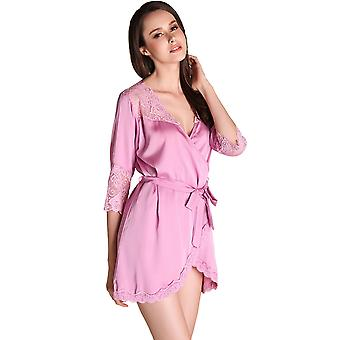 Regenboghorn Sexy Lingerie Nightdress Lace Sling Pajamas SetsRobe Sleepwear P2208