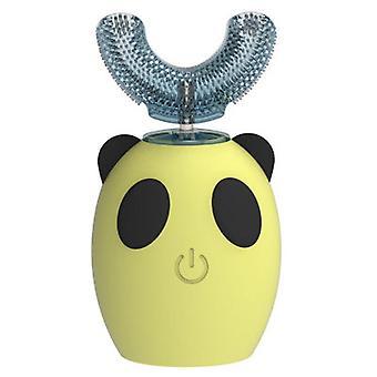 5X4.4x1.4cm الأصفر التلقائي ش على شكل فرشاة أسنان الأطفال، الكهربائية بالموجات فوق الصوتية تنظيف الفم وجهاز التمريض az16079