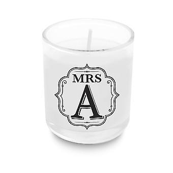 Heart & Home Alphabet Votive Candle - Mrs A