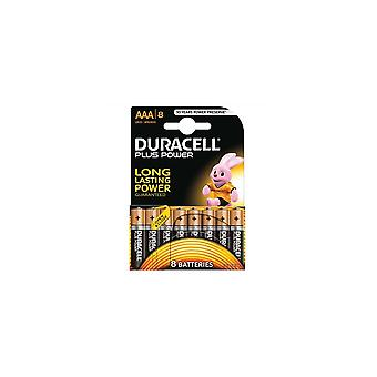Alkaliparistot Duracell Plus Lr03 Aaa 1,5v (8 kpl)