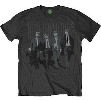 The Beatles - Walking In London on Logo Heren Klein T-Shirt - Grijs