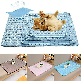 Pet Summer Cooling Mat Cold Gel Pad Comfortable Cushion for Dog Cat Puppy