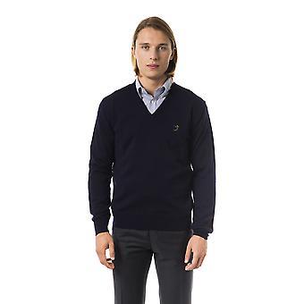 Uominitaliani b2 blu sweater for men
