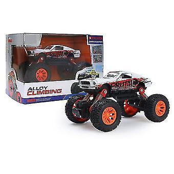 Mini children's alloy Off-road car, cartoon car model toy car(Red)