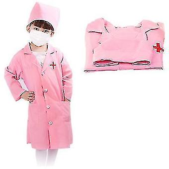 Doctor nurse cosplay childrens costume(Pink)