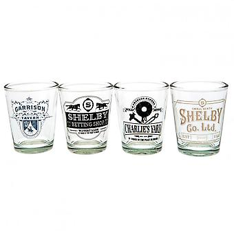Peaky Blinders 4pk Shot Glass Set Official Licensed Product