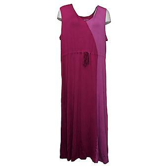 Carole Hochman Damenkleid Reg Rayon Spandex Two Tone Maxi Pink A373463