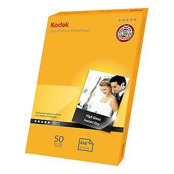 Kodak ULTRA premium fotoglanz A6 (4x6) Papier 280g/m/m (50er Pack)