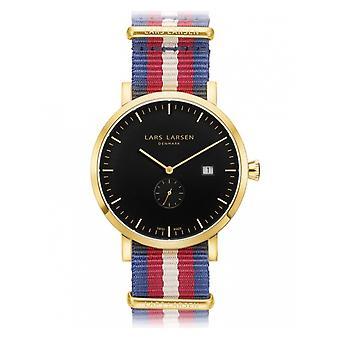 LLarsen (Lars Larsen Tricolour Nylon) 131GBNN Men's Watch