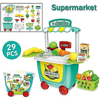 Toy kitchens play food supermarket-29pcs set kids simulation ice cream shop role play toy set