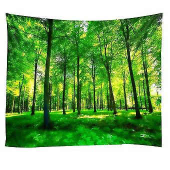 Home decor decals 150*150cm lingxia-green forest protection printing tapestry background wall decoration hanging cloth