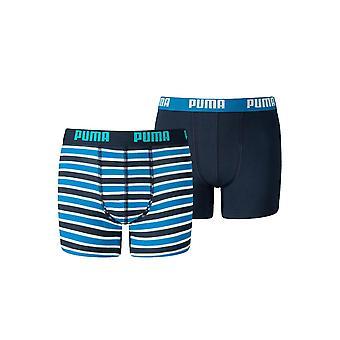 Puma Boys 2 Pack Boxer Junior Shorts Elastische Bundunterwäsche Unterwäsche Unterhose