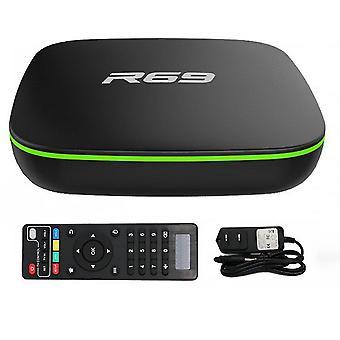 R69 smart set top tv box 4k high definition quad-core 2.4g wifi 1080p 2gb16gb ondersteuning 3d film