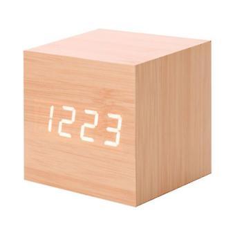 Venalisa Nowy nowoczesny drewniany led Cyfrowy drewniany stół Budzik Termometr Kalendarz Timer Pomarańczowy