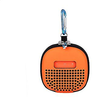 bæreveske for høyttalere for Bose Soundlink Micro Bluetooth-høyttalere Støtsikker Eva-oppbevaringsveske med spennekrok for utendørs reise oransje