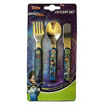 Polar Gear Disney Miles from Tomorrow 3 Piece Metal Cutlery Set