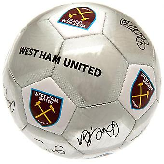 West Ham United Football Unterschrift SV