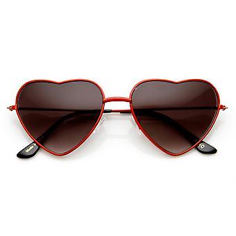 Moda damska cienkie metalowe okulary w kształcie serca
