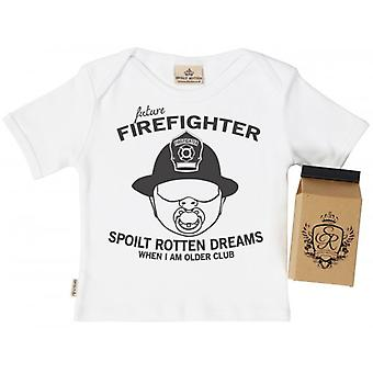 Spoilt Rotten SR Dreams Future Firefighter Toddler T-Shirt