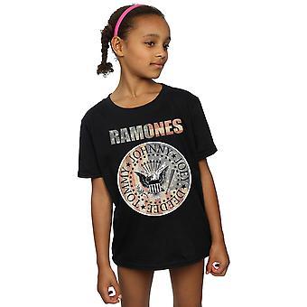 Ramones filles drapeau joint T-Shirt