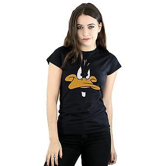 Looney Tunes vrouwen Daffy Duck grote gezicht T-Shirt