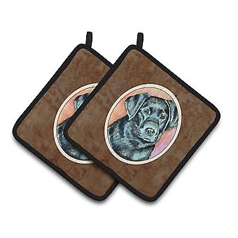 Carolines Treasures  7177PTHD Black Labrador Pair of Pot Holders