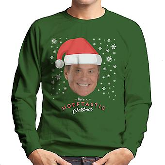 David Hasselhoff Have A Hofftastic Christmas Men's Sweatshirt