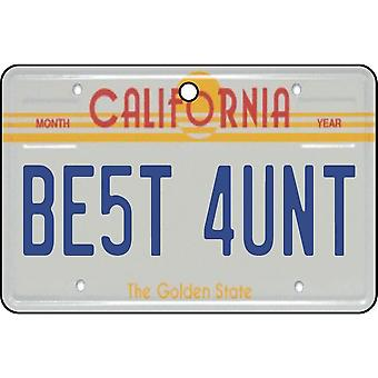 California - Best Aunt License Plate Car Air Freshener