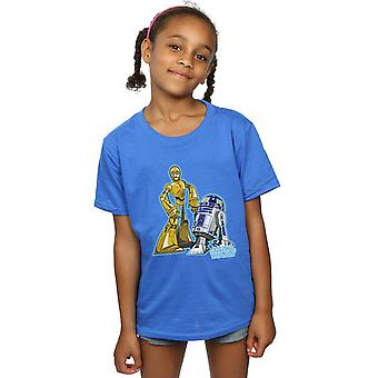 Star Wars Girls C-3PO und R2-D2 Charakter T-Shirt