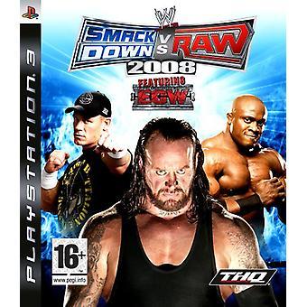 SmackDown Vs Raw 2008 (PS3) - Uusi