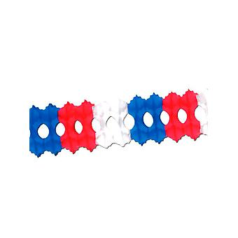 Czerwony, biały & niebieski tkanki Garland