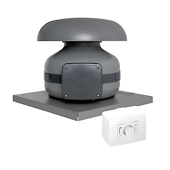 Roof-mounted fan CA MD RF EP Metal 865m³/h IP44 / IP45