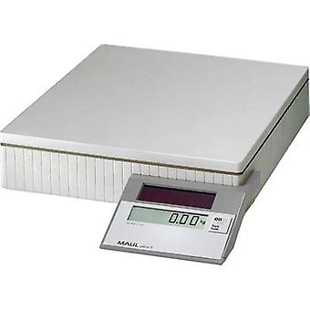 Maul MAULparcel S 50 parcela escalas peso rango 50 kg legibilidad 10 g, 50 g energía solar gris