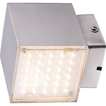 Heitronic Kubus 35272 LED outdoor wall light 7 W Warm white Stainless steel