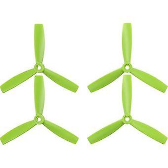 HQ Prop 3-blade Race copter propeller set Bullnose 5 x 4 inch (12.7 x 10.2 cm) TP5X4.5X3G&TP5X4.5X3RG
