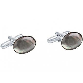Gemshine kalvosinnapit 925 hopea äiti Pearl harmaa 16 mm